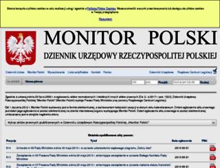monitorpolski.gov.pl screenshot