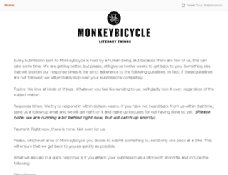 monkeybicycle.submishmash.com screenshot