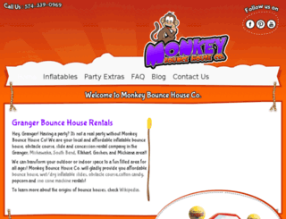 monkeybouncehouse.com screenshot