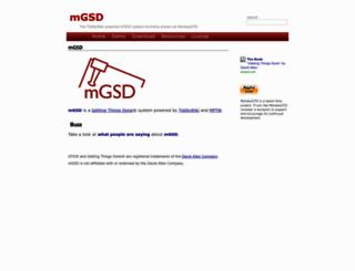 monkeygtd.tiddlyspot.com screenshot