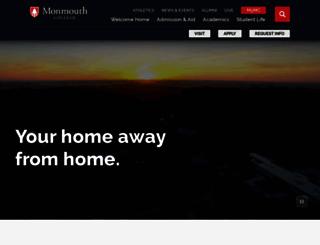 monmouthcollege.edu screenshot