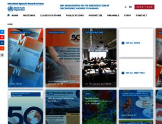 monographs.iarc.fr screenshot