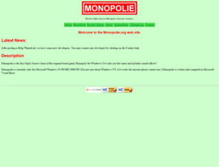 monopolie.sourceforge.net screenshot