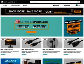 monoprice.com screenshot