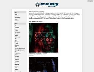 monotremerecords.limitedrun.com screenshot