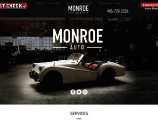 monroeauto.ca screenshot