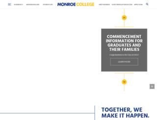 monroecollege.edu screenshot