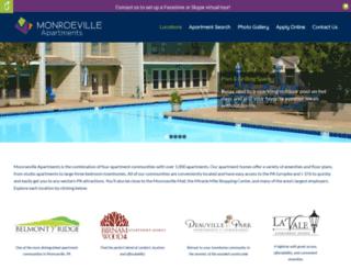 monroevilleapartments.com screenshot