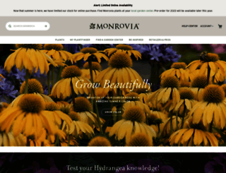 monrovia.com screenshot
