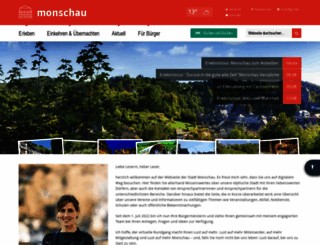 monschau.de screenshot