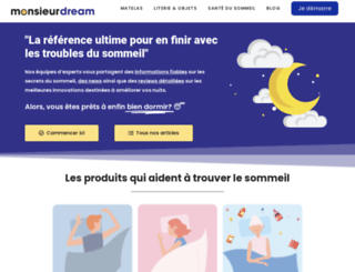 monsieurdream.com screenshot