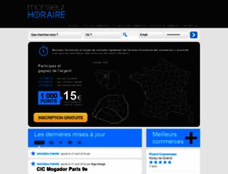 monsieurhoraire.com screenshot