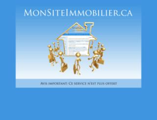 monsiteimmobilier.ca screenshot