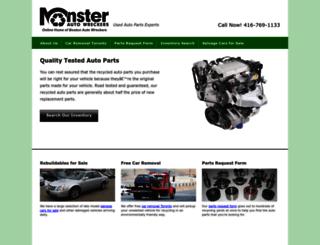 monsterautowreckers.com screenshot