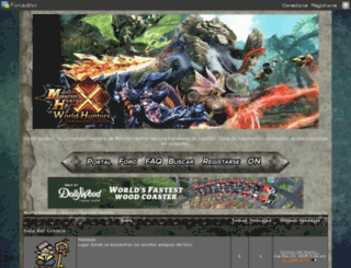 monsterhunterfreedom.foros.ws screenshot
