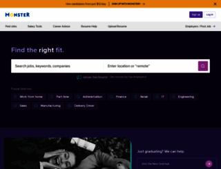 monsterjob.com screenshot