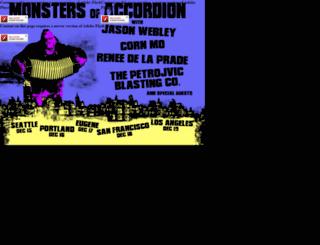 monstersofaccordion.com screenshot