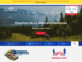 mont-sainte-anne.com screenshot