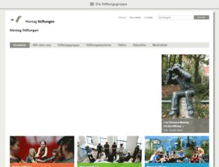 montag-stiftungen.com screenshot