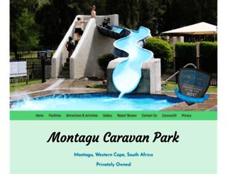 montagucaravanpark.co.za screenshot