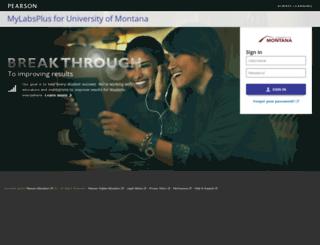 montana.mylabsplus.com screenshot