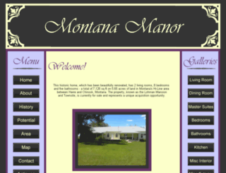 montanamanor.com screenshot