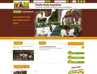 montbeliarde.org screenshot