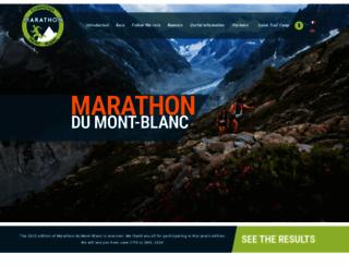 montblancmarathon.net screenshot