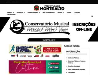 montealto.sp.gov.br screenshot
