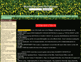 montecilloclanphils.com screenshot
