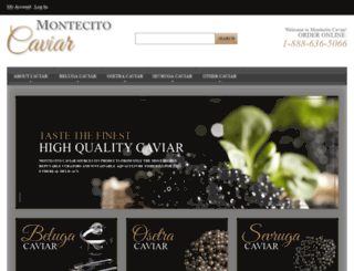 montecitocaviar.com screenshot