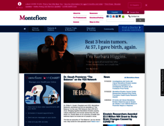 montefiore.org screenshot