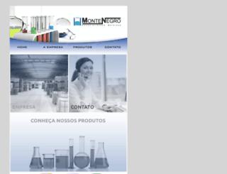montenegroquimica.com.br screenshot