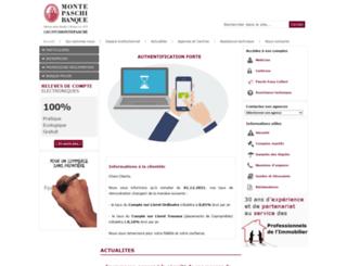 montepaschi-banque.fr screenshot