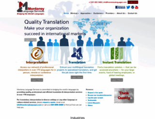 montereylanguages.com screenshot