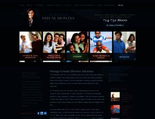 montesfamilylaw.com screenshot