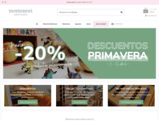 montessoriparatodos.es screenshot