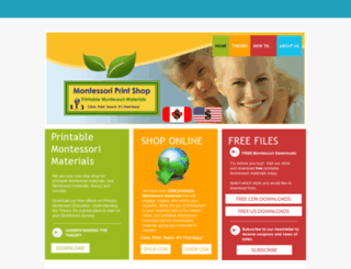 montessoriprintshop.com screenshot