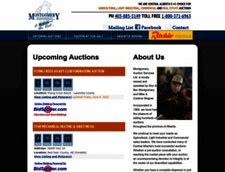 montgomeryauctions.com screenshot