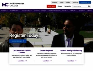 montgomerycollege.edu screenshot