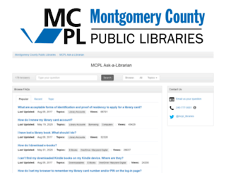 montgomerycountymd.libanswers.com screenshot