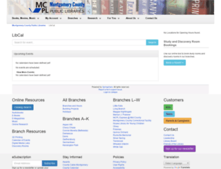 montgomerycountymd.libcal.com screenshot