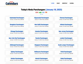 monthlycalendars.in screenshot
