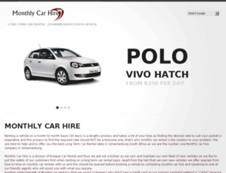 monthlycarhire.co.za screenshot