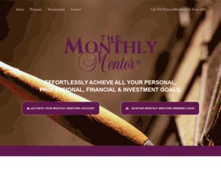 monthlymentor.com screenshot