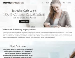 monthlypaydayloans.org screenshot