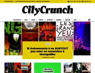 montpellier.citycrunch.fr screenshot