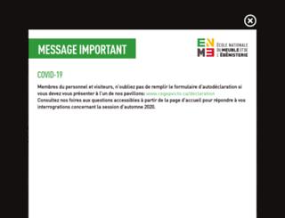 montreal.ecolenationaledumeuble.ca screenshot