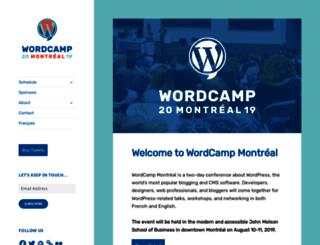 montreal.wordcamp.org screenshot