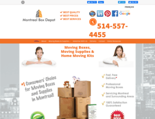 montrealboxdepot.com screenshot